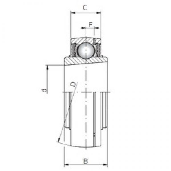ISO UK207 deep groove ball bearings #3 image