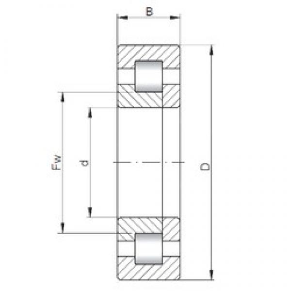 ISO NUP5221 cylindrical roller bearings #3 image