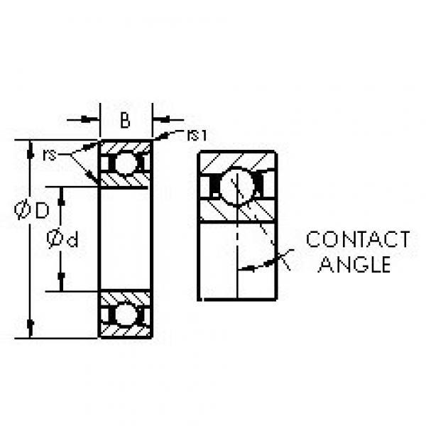 AST 71956C angular contact ball bearings #2 image