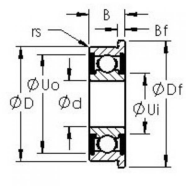 AST F635H-2RS deep groove ball bearings #2 image