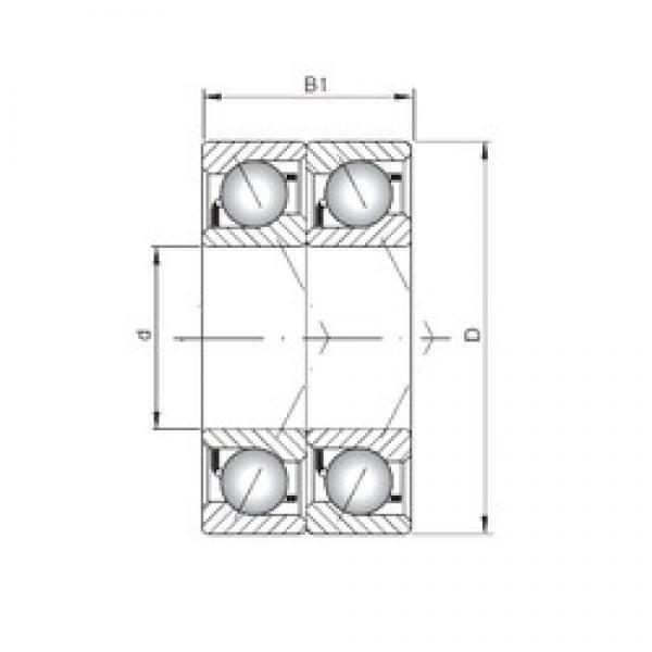 ISO 7201 CDT angular contact ball bearings #3 image