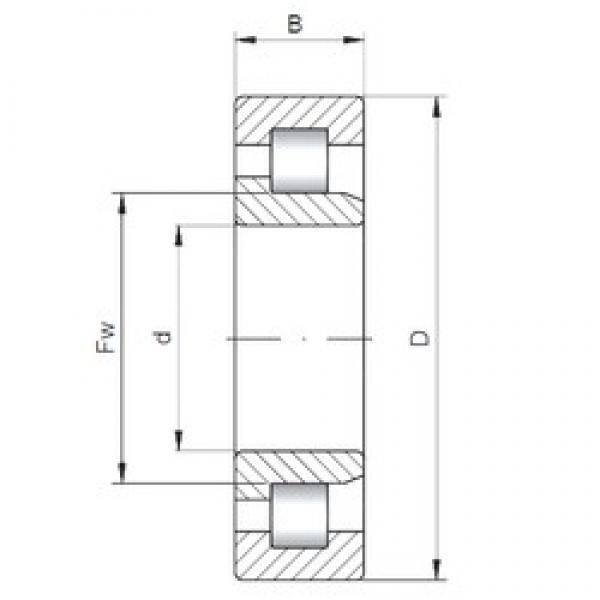 ISO NJ2896 cylindrical roller bearings #3 image