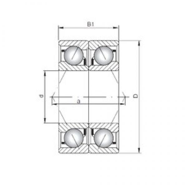 ISO 7026 CDB angular contact ball bearings #3 image