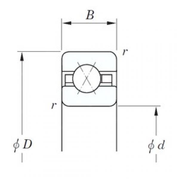 KOYO KAX030 angular contact ball bearings #2 image
