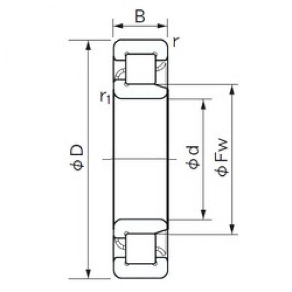 NACHI NJ 212 E cylindrical roller bearings #2 image