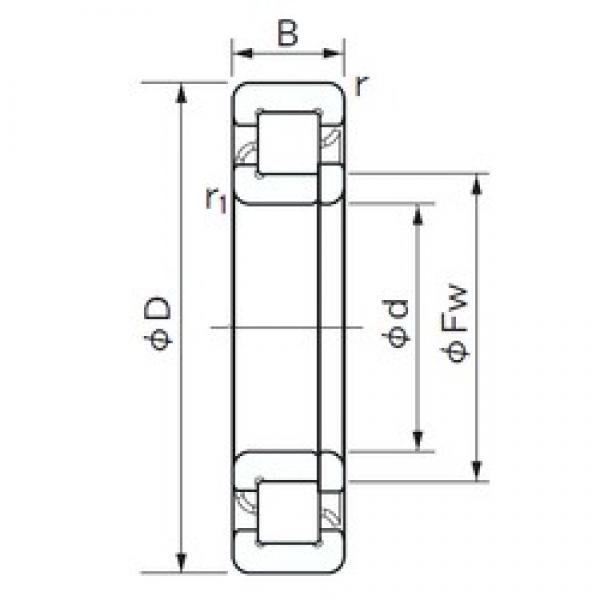 NACHI NUP 309 cylindrical roller bearings #2 image