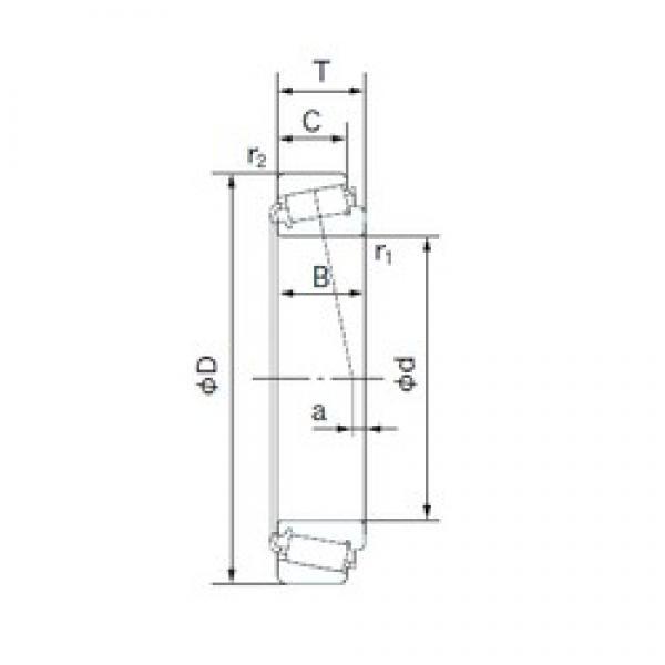 NACHI HM813842/HM813811 tapered roller bearings #2 image