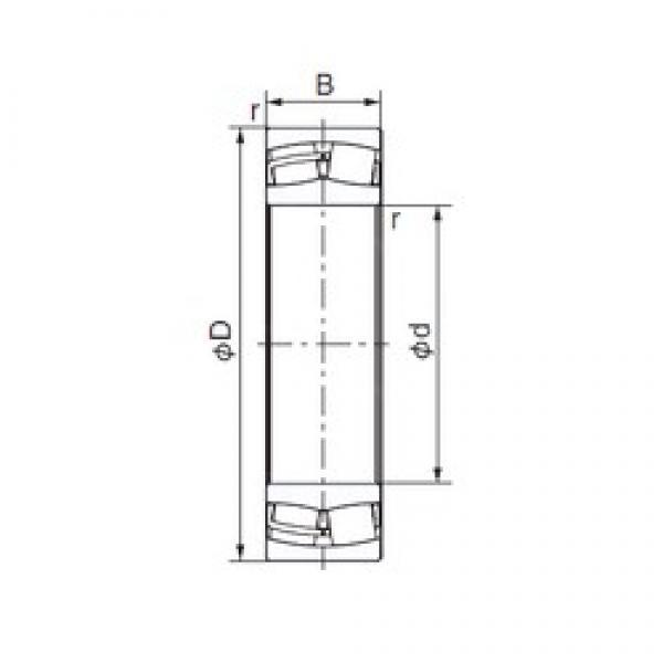 NACHI 23217E cylindrical roller bearings #2 image