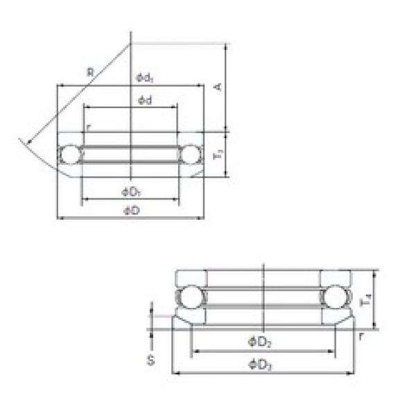 NACHI 53417U thrust ball bearings #2 image