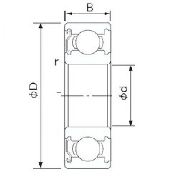 NACHI 6016Z deep groove ball bearings #2 image
