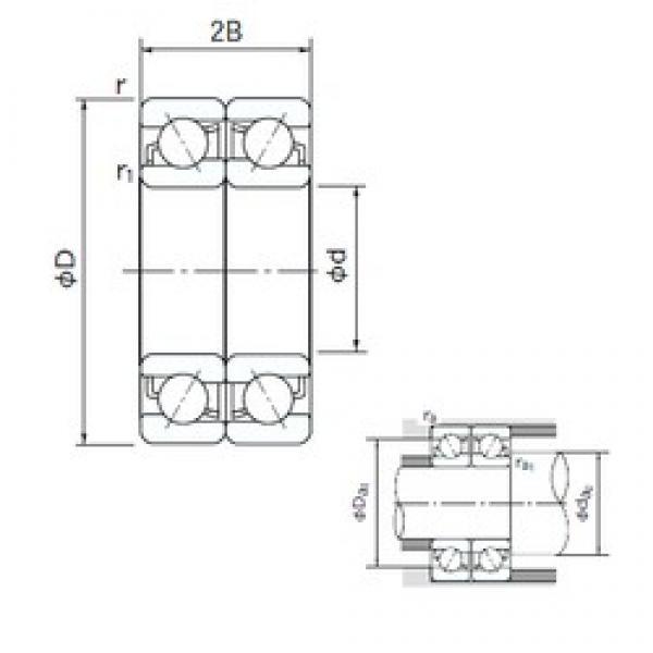 NACHI 7021CDF angular contact ball bearings #2 image