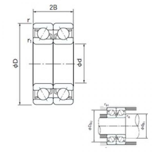 NACHI 7300DB angular contact ball bearings #2 image