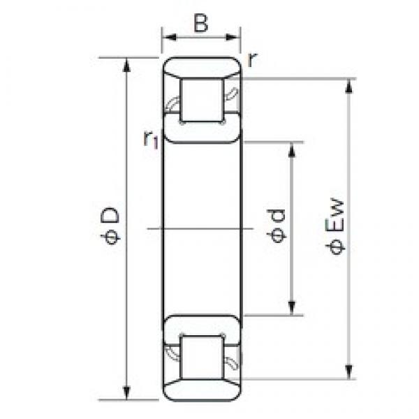NACHI N 218 cylindrical roller bearings #2 image