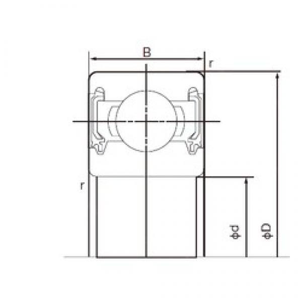 NACHI 6306-2NKE deep groove ball bearings #2 image