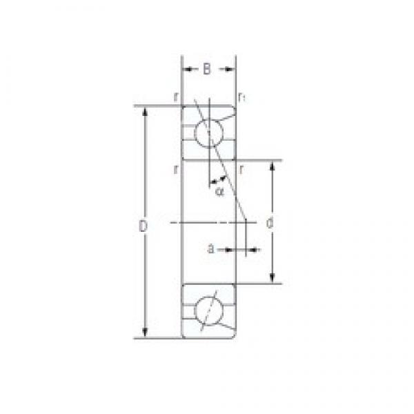 NACHI 7006C angular contact ball bearings #2 image