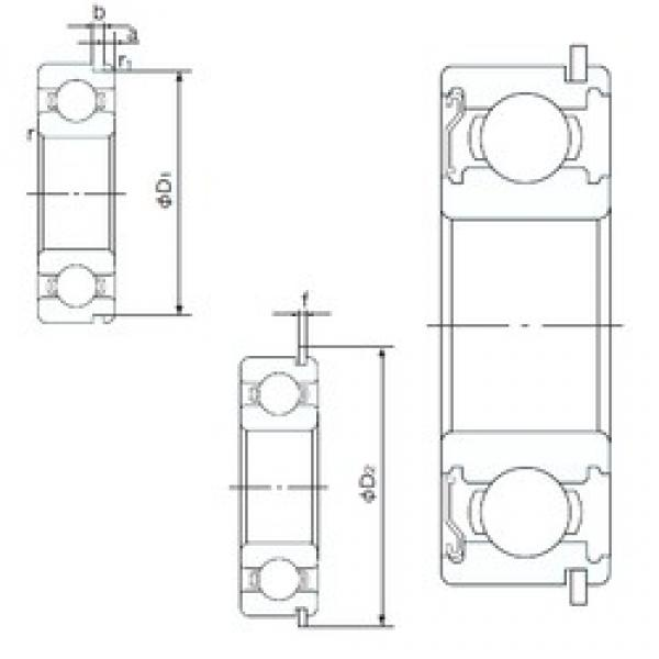 NACHI 6808ZENR deep groove ball bearings #2 image