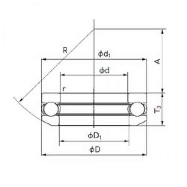 NACHI 53228 thrust ball bearings #2 image