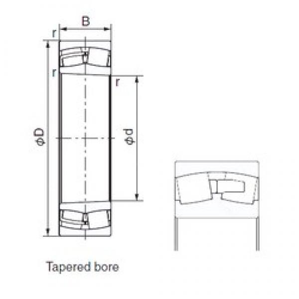 NACHI 22214AEXK cylindrical roller bearings #2 image