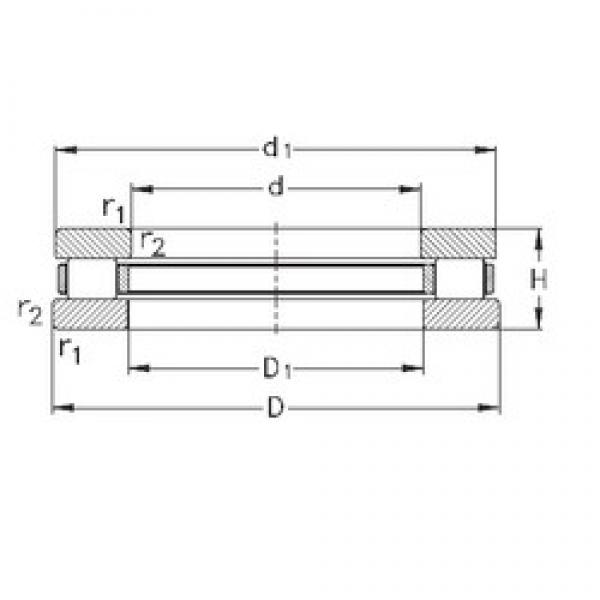 NKE 81216-TVPB thrust roller bearings #3 image