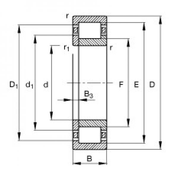 FAG NUP2217-E-TVP2 cylindrical roller bearings #2 image