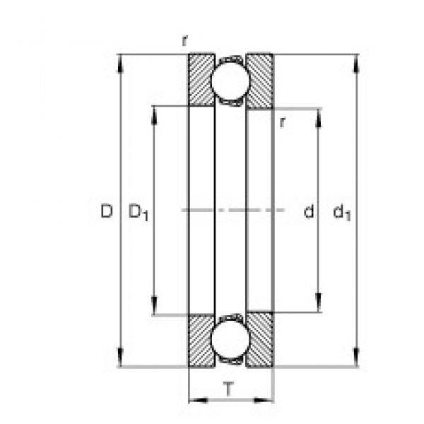 FAG 51413-MP thrust ball bearings #2 image